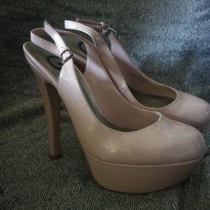 Guess Light Pink Platform Heels